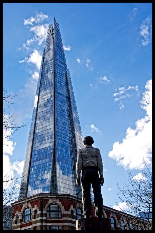 """Looking at the Shard"", London, England"
