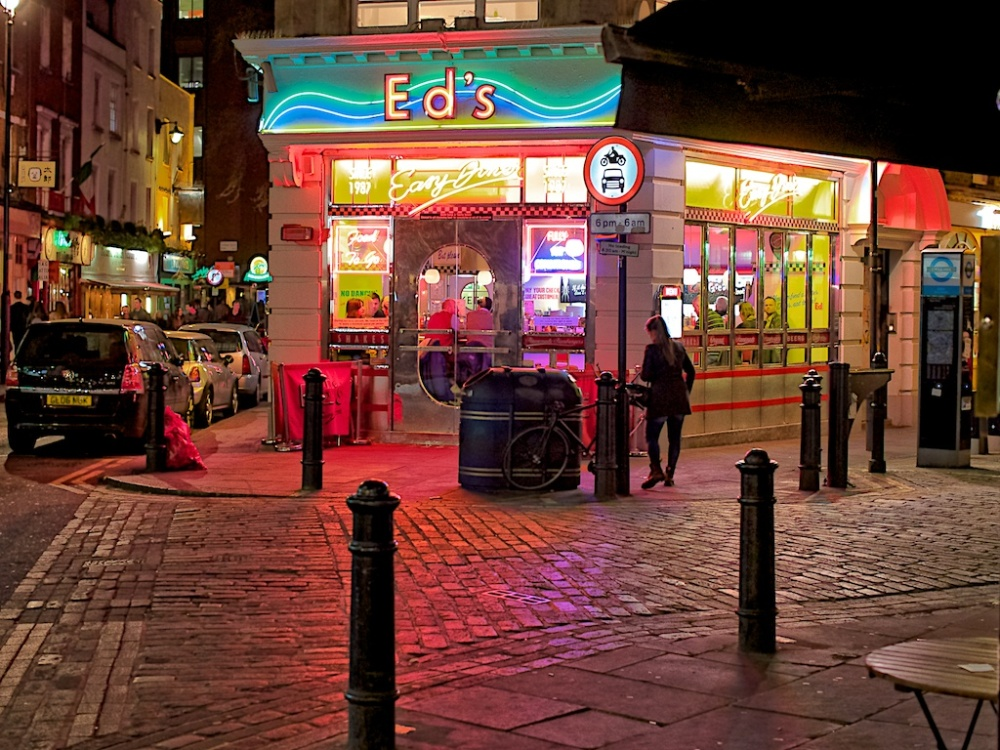 """Outside Eds"", London, England"