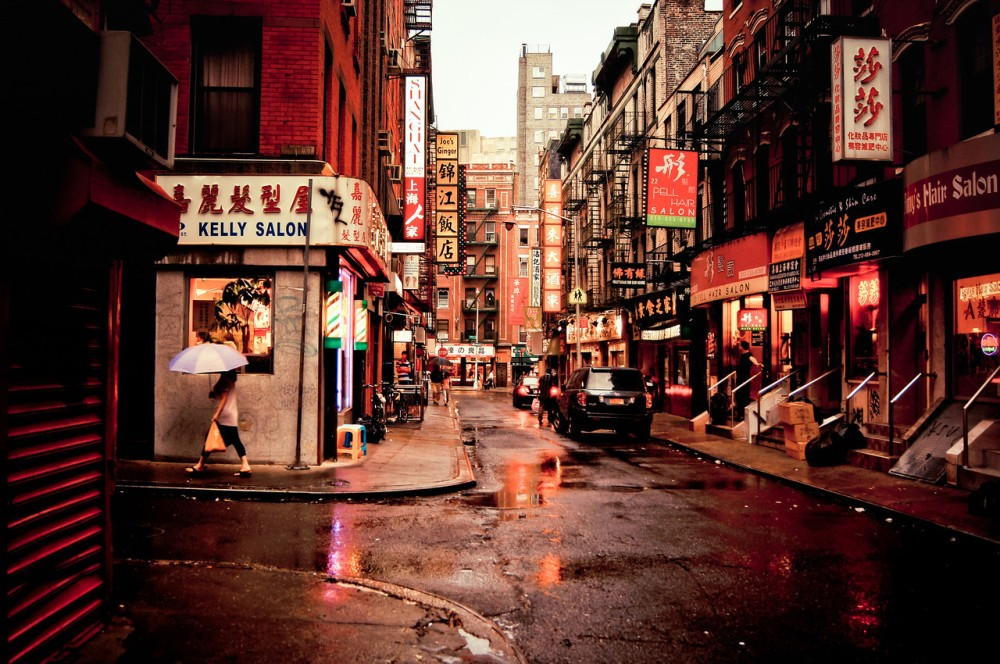 New York City - Pell Street - Chinatown - Rainy Evening
