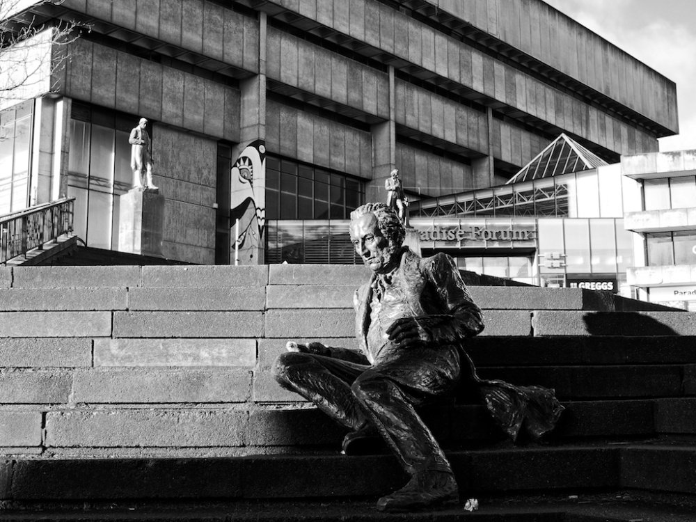 Thomas Attwood on the Library Steps