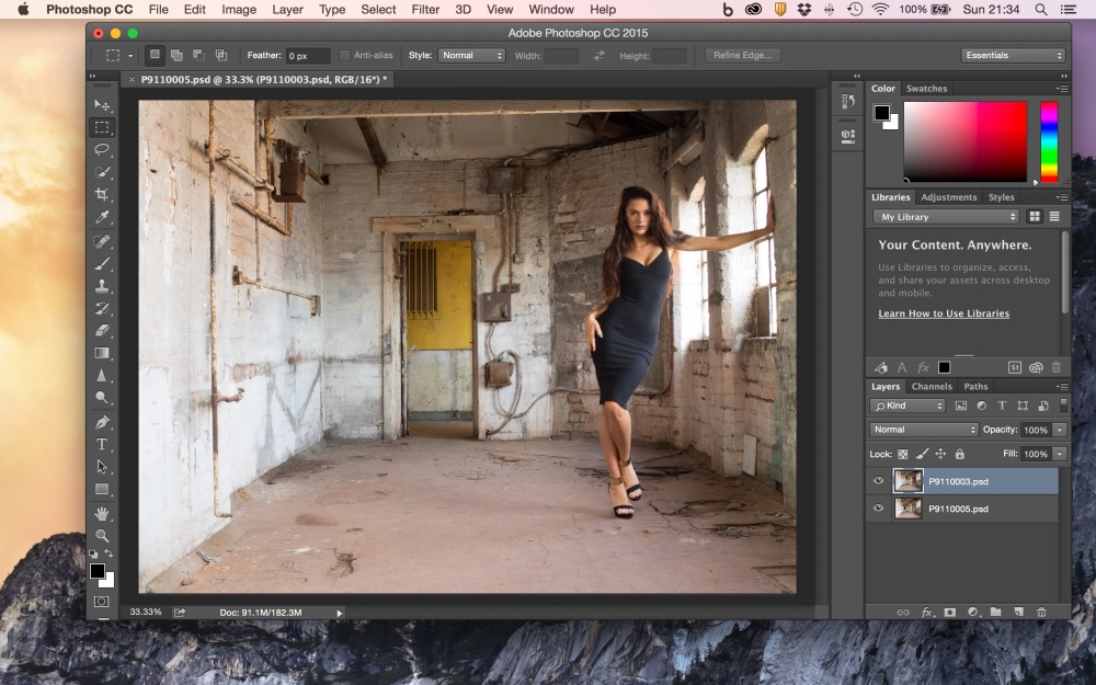 Images Opened as Layers in Photoshop