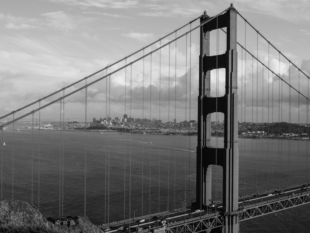 Golden Gate Bridge - North Tower and San Francisco