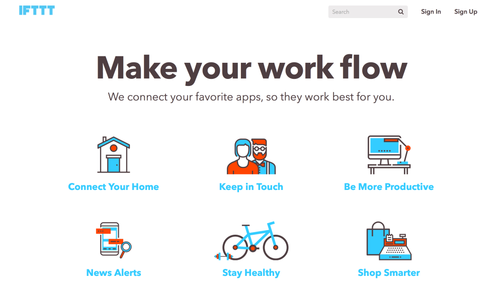 ifttt screen