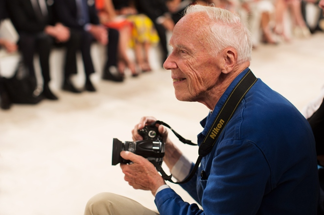 Bill Cunningham at Ralph Lauren, New York. Copyright The Sartorialist