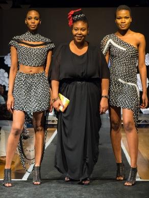 Designer: Angela Plummer, Model: Tomi Ajadi