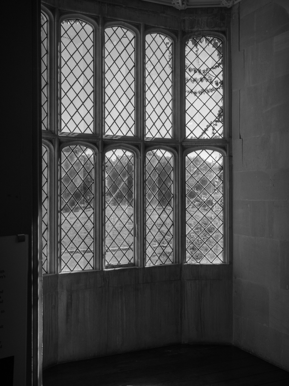 Latticed Window Lacock Abbey August 2016