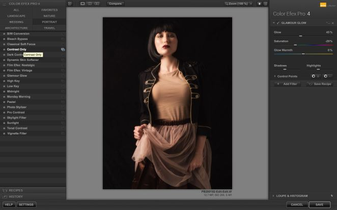 Step 4 - Add a 'Glamour Glow' in Color Efex 4
