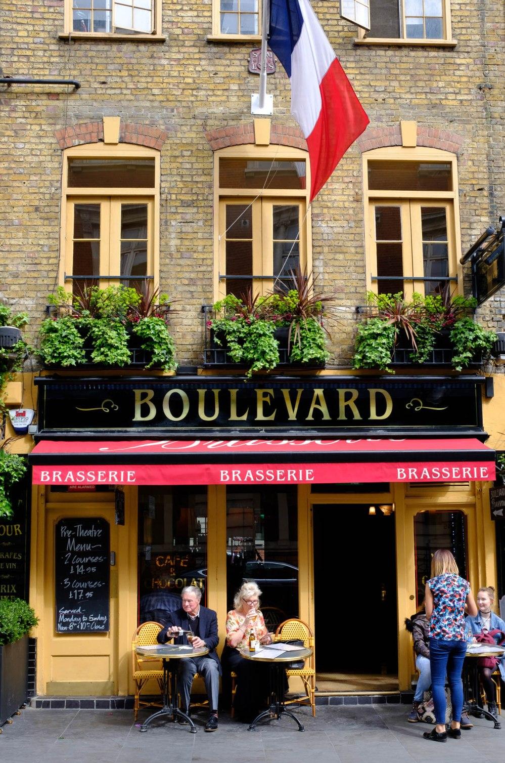 Boulevard Brasserie, Covent Garden
