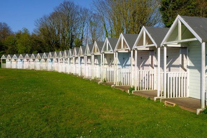 Beach Huts, Devon, England