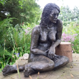 Sitting Girl by Jenny Huggett