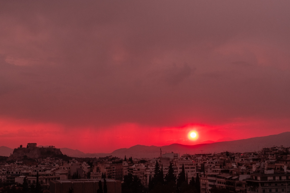 Sun Setting Over the Acropolis, Athens