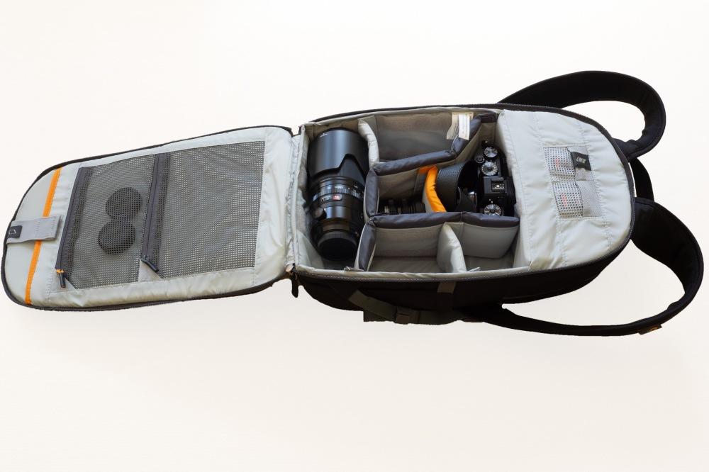 Lowepro m-Trekker BP 150 - Fully Open View